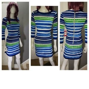 NWT Vince Camuto Lovely Striped Dress.